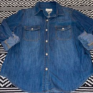 Universal Threads Button Down Labette Jean Shirt